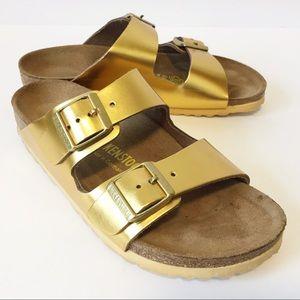 Birkenstock | Gold Arizona Sandals